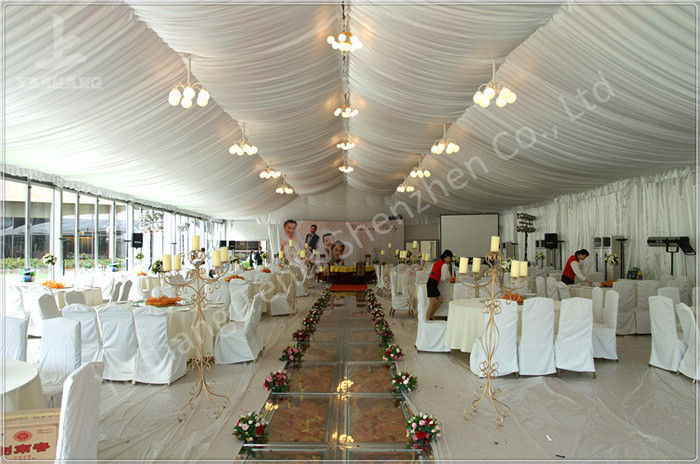 350 Seater Wedding Reception Marquee Banquet Tent Rental With Clear Glass Walls